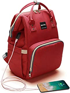 Baby Diaper Bag Backpack,NUTK Waterproof Large Capacity Travel Nappy Bags with USB Charging Port