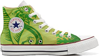 78eee184 Converse Personalizados All Star Customized - Zapatos Personalizados  (Producto Artesano) dragón Verde, Fondo