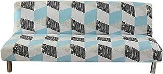 yestter Funda de sofá Cama Clic-clac Funda de sofá Cama elástica para Cubrir Completamente el sofá sin apoyabrazos, Extensible elástica, extraíble, protección para sofá 160 – 190 cm