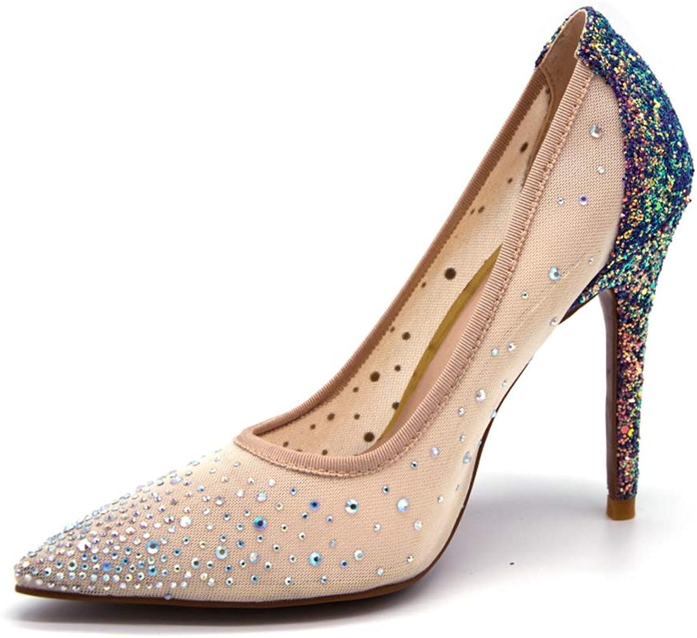 XDLEX Silver Bling Fashion Design Women's High Heel Pumps 2019 Summer New See Through Party Wedding Stiletto shoes 11cm Thin Heels