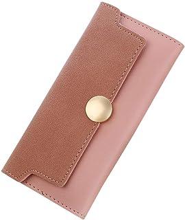 Wolkaibi 女性シンプルレトロパッチワークロングウォレットコインケースカードホルダーハンドバッグ Women Simple Retro Patchwork Long Wallet Coin Purse Card Holders Handbag