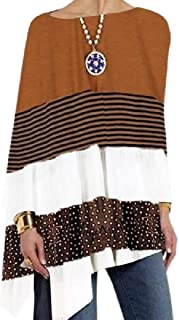 Comaba Women's Loose Fit Cotton Pullover O-Neck Mid-long Stylish T Shirt Tunic Tops