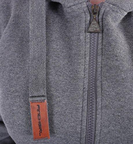 9C23 Finchgirl FG181 Damen Jumpsuit Overall Einteiler Jogging Anzug D.Grau M - 4