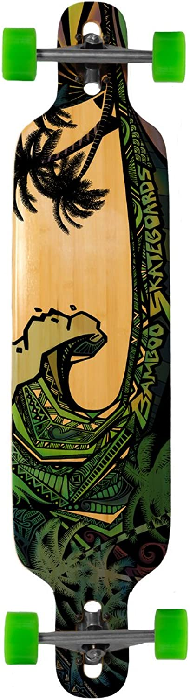distribución global Longboard de bambú Twin Tip verde verde verde gigante Gráfico 40 x 9.25  40 x9.25   hermoso