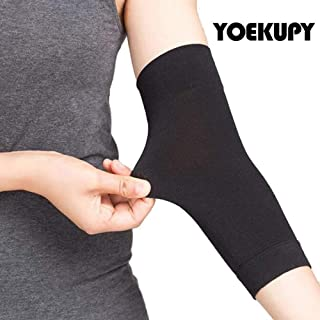 1 Pair Tattoo Cover Up Compression Sleeves Bands Forearm Concealer Support Skin Color Tattoo Aftercare UV Protection Oversleeve (Black)