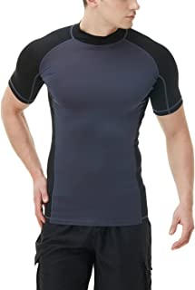 Tesla Mens Cool Dry Compression Baselayer Short Sleeve T Shirts MUB23