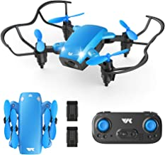 $26 » VIK Foldable Mini Drone for Kids/Beginners Pocket RC Drone Toys for Boys and Girls w/Headless Mode, Altitude Hold, One Key Take-Off/Land/Return, 2 Batteries - VK330