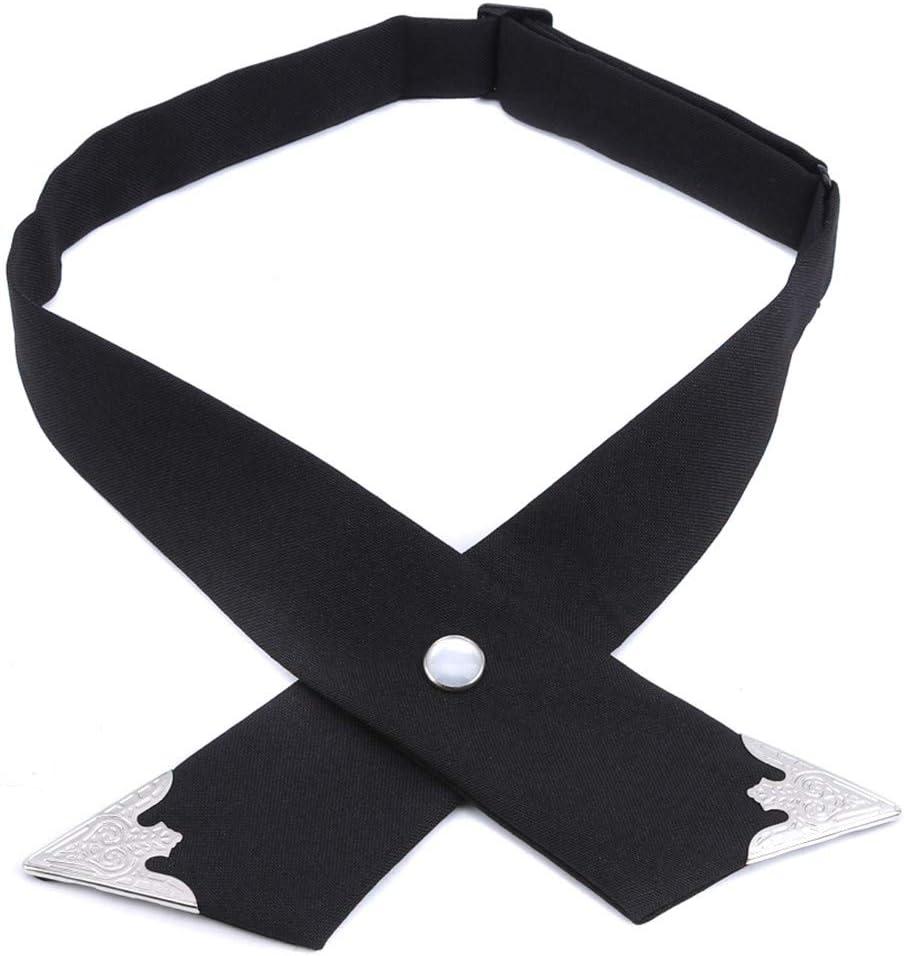 Weiy Cross Bow Ties for Men Women Solid Business Casual Cross Tie Formal Dress Men Wedding Metal Collar Cross Bowtie