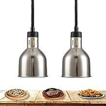 WOERD Lampe Chauffe-Plats, Lampe Chauffante pour Aliments, Rétractable Lampe Chauffante pour Accueil Cuisine, Multifonctio...