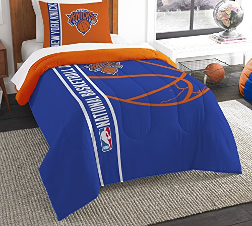 The Northwest Company Officially Licensed NBA New York Knicks Reverse Slam Twin Comforter and Sham