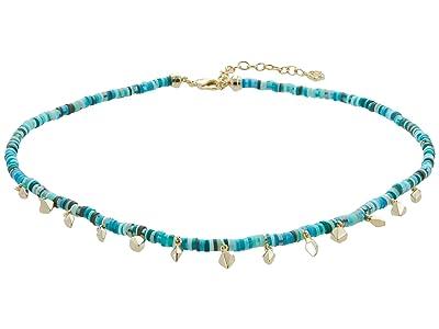 Kendra Scott Reece Choker Necklace (Gold Sea Green Mix) Necklace