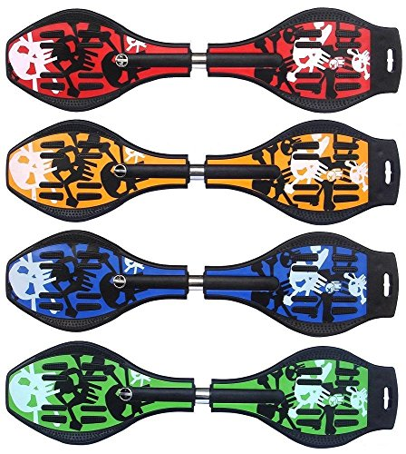 SGM Red Ripstik Skateboard Waveboard Swivel-Head and LED Wheels with Sports-/carrier-bag