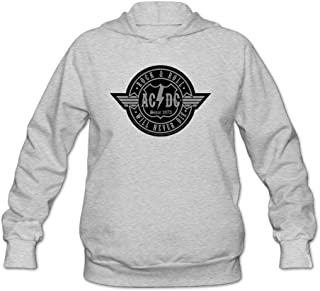 ACDC Rock & Roll Will Never Die Women's Hooded Sweatshirt
