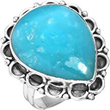 Natural Smithsonite Gemstone Unique Jewelry Solid 925 Sterling Silver Ring Size 8