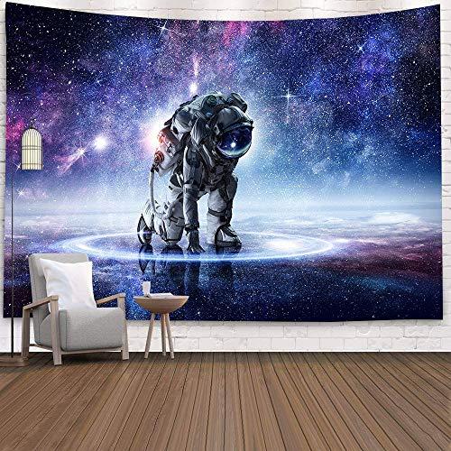 N / A Tapiz de Astronauta Tapiz cósmico Espacio Exterior decoración de Alfombra de Pared Tapiz decoración del hogar de Ciencia ficción Tapiz de decoración de habitación Grande Tapiz A3 130x150cm