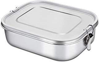 Bento Lunch Box, 47 OZ Stainless Steel LunchBox For Kids Food Containers with Lock Clips (TOTAL 47 OZ)