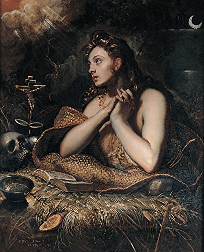 Berkin Arts Jacopo Tintoretto Giclee Canvas Print Paintings Poster Reproduction(Penitent Magdalene)
