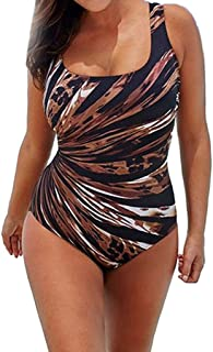 N-B 4/5XL Bañador Natacion Mujer Negra U-Cuello Traje de Baño Una Pieza Verano Escotado por detrás Tallas Grande Rayos Est...