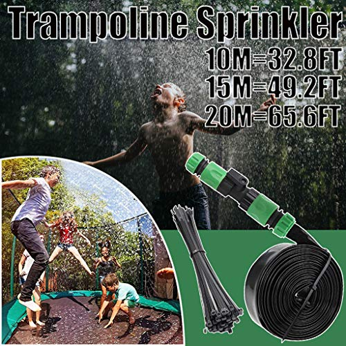LUCKME Fun Summer Trampoline Sprinkler, Water Park Sprinkler Hose Pipe Fun Summer Games Sprinkler Toys Accessories Fun Summer Activities For Kids Outside Garden Yard (15m/49.2ft)