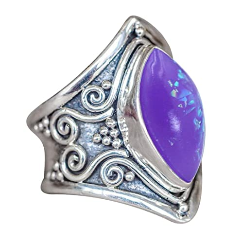 7b6f3cc4a Statement Rings for Women Girls Size 5-11 Cuekondy Vintage Boho Natural  Gemstone Marquise Moonstone