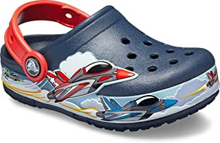 Crocs Kids' Boys and Girls Jets Band Light Up Clog