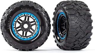 Traxxas 2 banden + velgen, blauw, All Terrain 2,8 inch Maxx TRX8972A