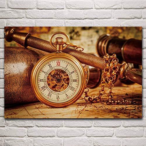 Doyjab Regalo Chico Chica Puzzle 1000 Piezas Reloj clásico Madera Rompecabezas Adultos Juego Juguete Infantiles Cumpleaños Regalo 50x75cm