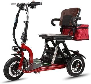 Mini eléctrico triciclo Vespa vieja eléctrica plegable de coches de minusválidos adultos coche 350W Potencia del motor Cuerpo Weht 26KG -3 Cambio de marchas - kilometraje máximo 55 kilometros, Nombre