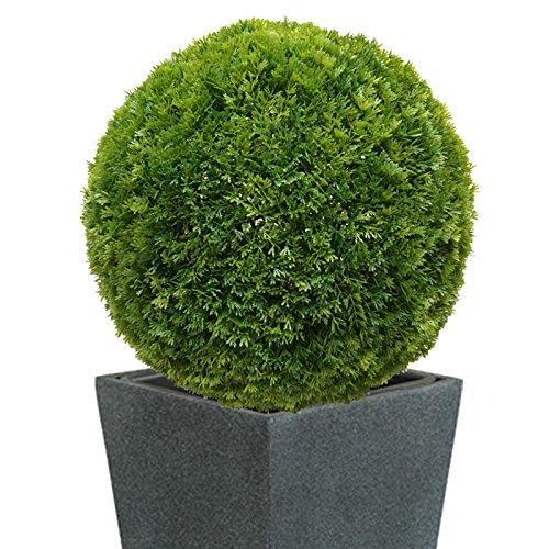 38-40 cm Ø künstliche Thuja - Buchsbaumkugel