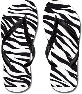 CafePress - Zebra Animal Print - Flip Flops, Funny Thong Sandals, Beach Sandals