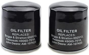 Outdoors & Spares 2 Pack 120-634 Oil Filter Replaces John Deere AM107423 Kawasaki 49065-2078 Club Car 1016467 Robin 261-65902-A0 Onan 122-0737-03 Cub Cadet 490-201-0001