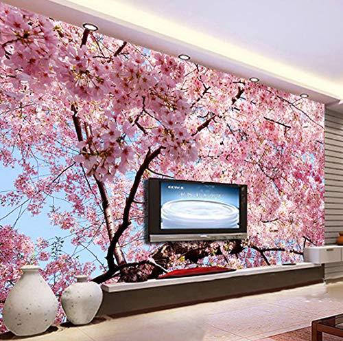 Papel De Pared Cherry Tree 3D Papel Tapiz Mural Grande Dormitorio Sala De Estar Sofá Tv Telón De Fondo Papel Tapiz Mural De Pared, 320X220Cm (125.98X86.61 In)