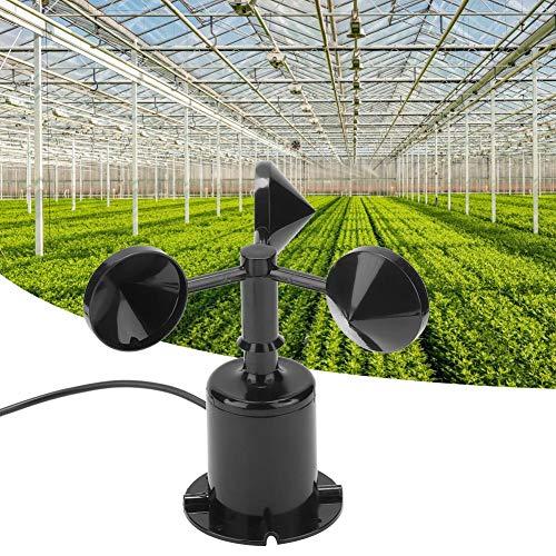 Sensor de Velocidad del Viento, 0-70 m/s Medio Ambiente Salida de señal Tipo de Pulso Tres Tazas Sensor de Velocidad del Viento Anemómetro