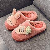 Nikai Femme Homme Hiver Mousse Mémoire,Hooligan Rabbit Bag with Cotton Slippers, Female Winter Cute...
