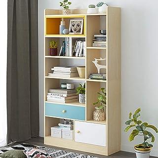 YaGFeng Estantería Colocación En El Suelo De Madera Estantería Estantería De Visualización Almacenamiento De Oficina Muebles De La Sala De Estar Unidad para el hogar Oficina Librero