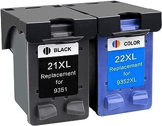 CMDZSW 21 22 22 XL Cartuccia d'inchiostro compatibile Sostituzione per HP 21 22 21xL 22XL Deskjet F2180 F2280 F4180 F2200 ...