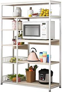 Rangement Cuisine Organisateur étagère Utility Storage Shelf 5 Tier plateau avec fil panier Vintage Kitchen Baker Rack Off...