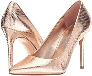 Womens Claire Leather Snake Embossed Pumps
