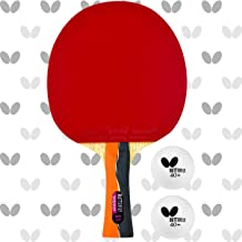 Butterfly Nakama S-1 Table Tennis Racket – Professional ITTF Approved Butterfly Ping Pong Paddle – Sriver Rubber – Carbon ...