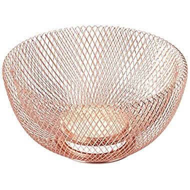 NIFTY 7510COP Double Wall Mesh Decorative and Fruit Bowl, 3.5 quart/10 , Copper