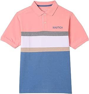 Nautica Childrens Apparel Big Boys Short Sleeve Deck MARL Polo