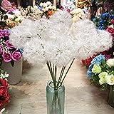 HWADMW Artificielle Plantes 66 cm en Plastique Blanc Pissenlit Artificielle Décoration De Noël Fleur Arrangement De Mariage Route Décoration Fleur