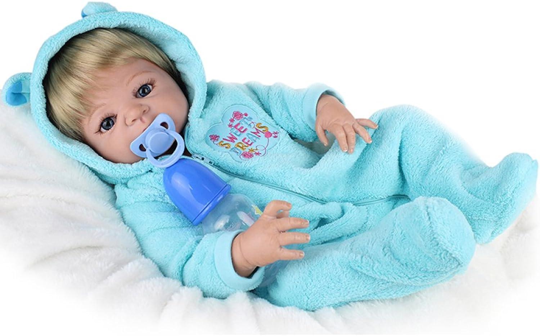 QXMEI 22 Zoll   55 cm Simulation Wiedergeburt Babypuppe Voller Silikon Kinder Spielzeug Geschenk