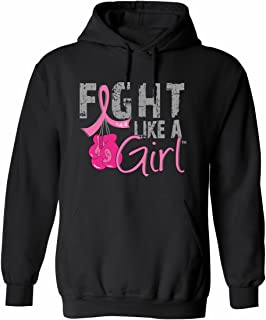 fight like a girl hoodie with boxing gloves