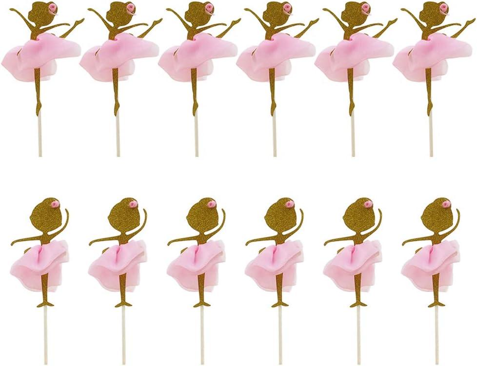 Gold glitter Ballerina birthday party or baby shower centerpiece