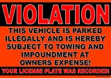 10 Pack of Violation No Parking Stickers - Towing at Owners Expense