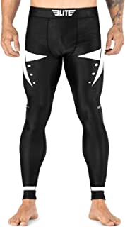 Men's BJJ Spats Leggings Tights, Elite Sports best Jiu Jitsu MMA no GI Spat Sublimated Graphics Compression Pants