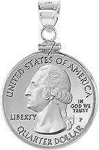 Sterling Silver & Gold Filled Quarter Dollar Bezel Screw Top 24 mm Coin Edge 25 Cent