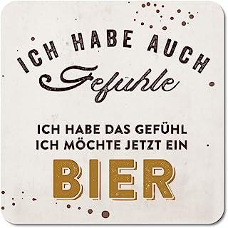 3//6//12x Untersetzer Kork Sprüche Bierdeckel Lustig Bar Party Deko 9x9cm