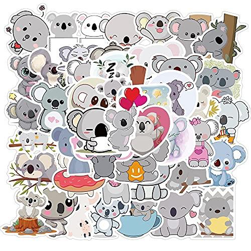 LVLUO Kawai Koala klistermärkesväska barn söt djur klistermärke klistermärke till skrivmaterial kylskåp telefon ps 4 cykel gitarr 50 st